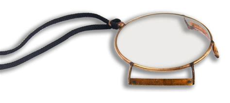 glass and brass monocle with tortoiseshell gallery gilai