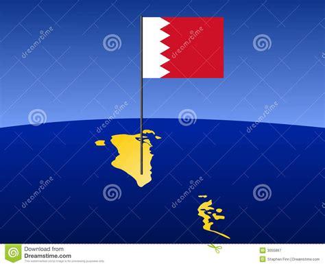 design grafix bahrain map of bahrain with flag royalty free stock photography