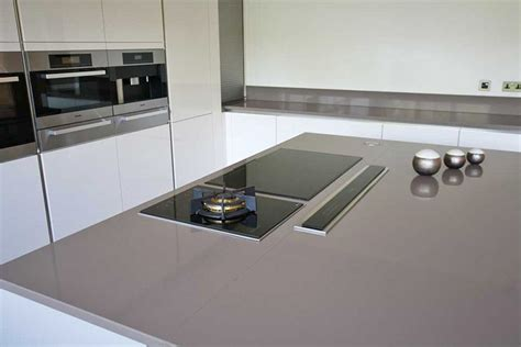 island extractor fans for kitchens grey kitchen island with pop up extractor and induction