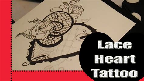 lace heart tattoo design design amp linework youtube