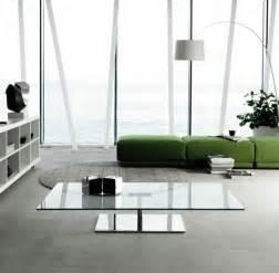 glastische wohnzimmer glastisch deko ideen