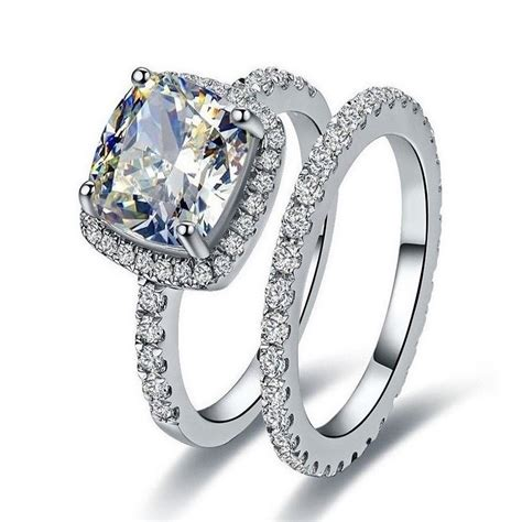 7 Engagement Rings From Since1910 by Genuine 14k White Gold 1 55ct Set Engagement Ring Semi