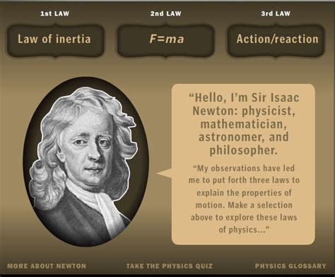 isaac newton biography three laws motion isaac newton s laws of motion pinterest