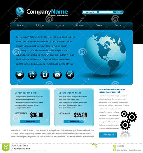 Copyright Free Website Templates Blue Website Template Royalty Free Stock Image Image 11900706
