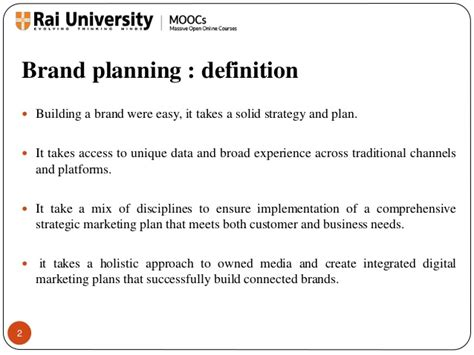 Advantages Of Integrated Mba by Brand Planning And Brand Potential Introduction To Branding