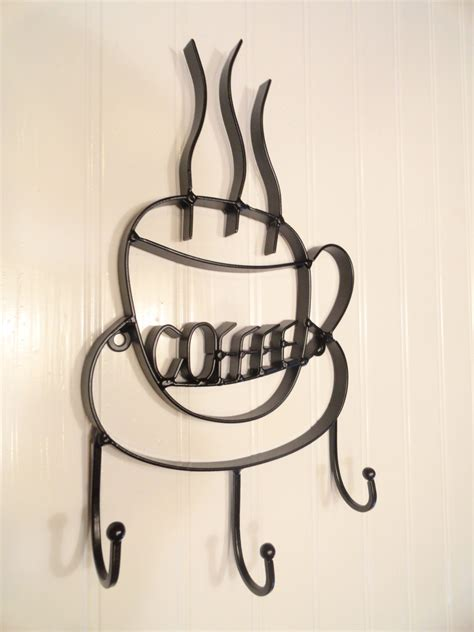 coffee cup hooks kitchen kitchen wall decor black coffee cup hook coffee sign
