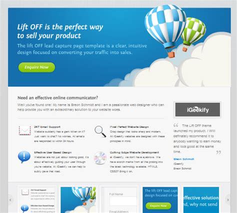 40 Free And Premium Landing Page Templates The Design Work Lead Capture Template