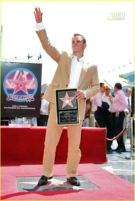 Matt Damon Gets His Walk Of Fame by Matt Damon Gets Walk Of Fame Photo 505791