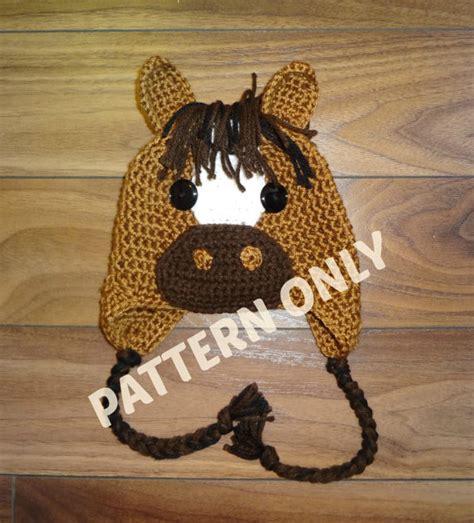 etsy horse pattern horse hat crochet pattern pdf 6 sizes instant by