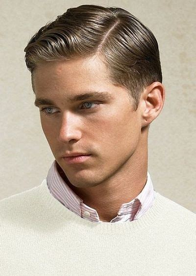 preppy boys haircut classy retro slick parted haircut for men modern yet