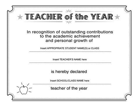 academic award certificate template of the year certificate free certificate