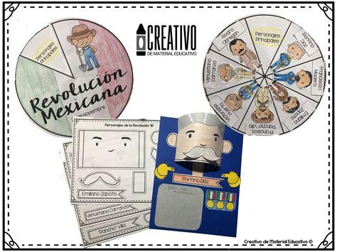 imagenes para trabajar la revolucion mexicana estupendo material interactivo de los personajes de la