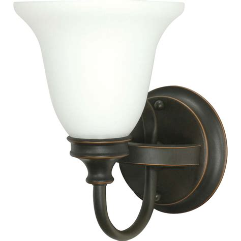 rustic bathroom vanity lighting shop bistro rustic bronze bathroom vanity light at lowes com