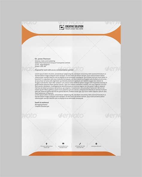 32 Word Letterhead Templates Free Sles Exles Format Download Free Premium Templates Business Header Template