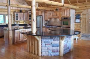 Log Home Kitchen Design Decoraci 243 N De Cocinas R 250 Sticas 50 Ideas Originales