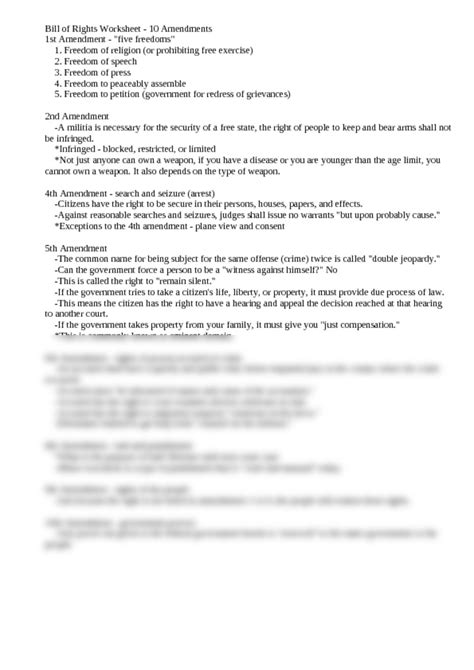 Interpreting The Bill Of Rights Worksheet by Worksheet Interpreting The Bill Of Rights Worksheet
