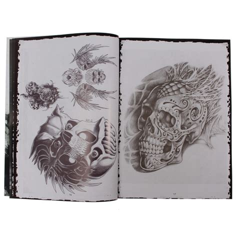 libro body art 76 pagine diverse forniture disegno tatuaggio teschio schizzo libro body art a4 su banggood