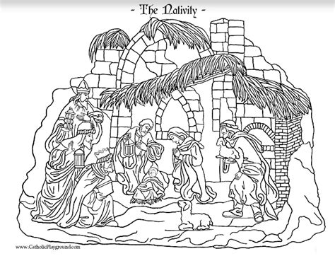 catholic nativity scene coloring pages biblical coloring pages catholic playground