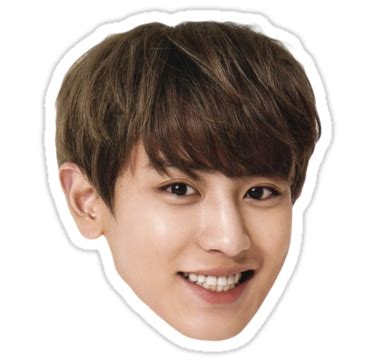 Exo Chanyeol Cheeks Sticker quot chanyeol quot stickers by adore value redbubble