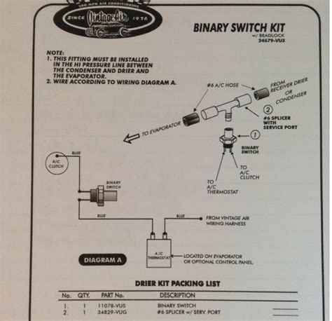 vintage air trinary switch wiring diagram circuit