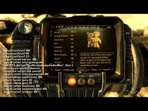 console commands for new vegas fallout new vegas console commands check