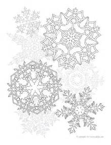 Snowflakes Adult Coloring Page Delfyn Studios Snowflake Coloring Pages For Adults