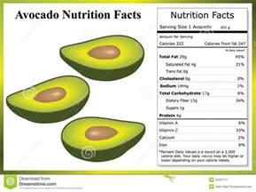 avocado nutrition facts stock vector image 54331717