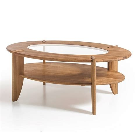 Wood Coffee Table With Glass Insert Louisa Wooden Coffee Table In Knotty Oak With Glass Top Inserts Mysmallspace