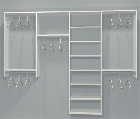 closetmaid reach in closet reach in closet layouts for his and her standard closet