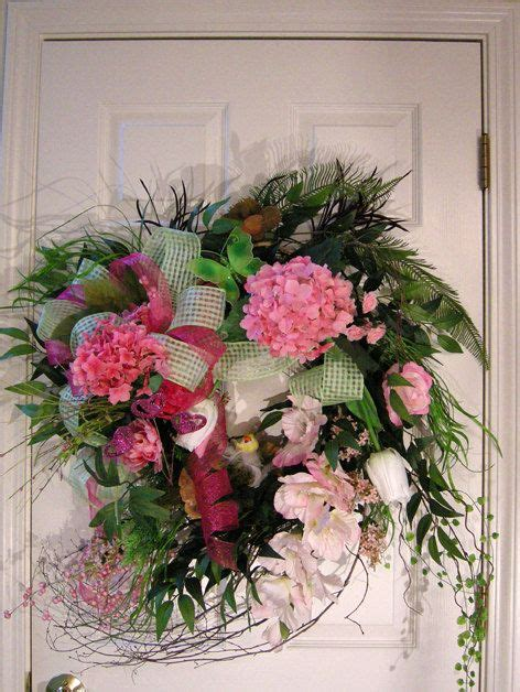 Large Wreaths For Front Door Large Summer Front Door Wreath Wreaths By Kittykwreaths Etsy Friends Board