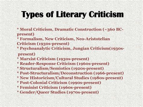 literature criticism and style ppt types of literary criticism powerpoint presentation id 2201936