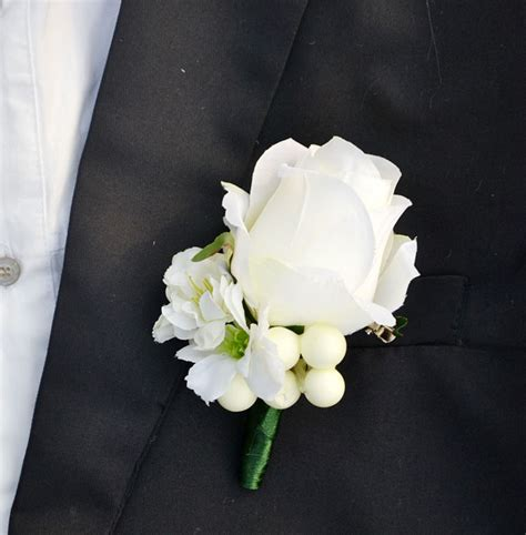 handmade wedding corsages groom boutonniere artificial