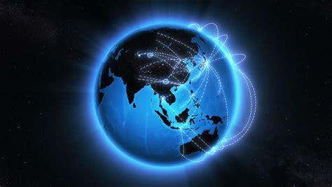 global network digital world globe connected hd 1080