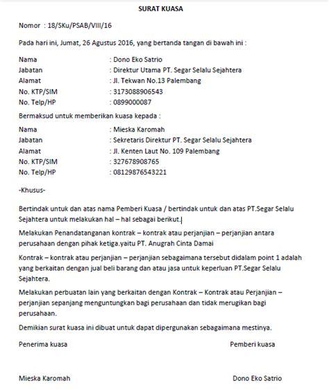 contoh surat kuasa gugatan waris wisata dan info sumbar
