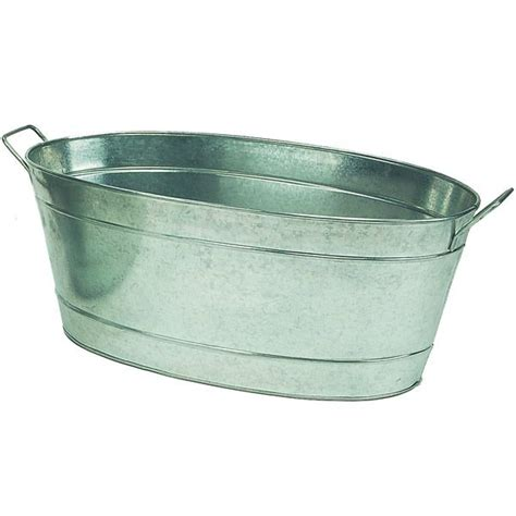 Large Galvanized Tubs large oval galvanized tub