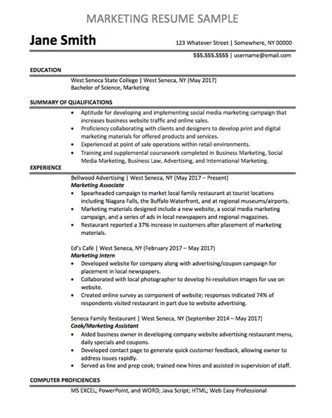 Marketing Associate Resume by Marketing Associate Resume Sle Chegg Careermatch