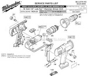 milwaukee 0624 20 parts list and diagram ser 321a ereplacementparts