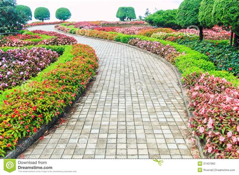 walk in the garden stock photography image 37437962