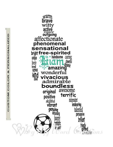 Is Handmade One Word - personalized boy soccer football player from bymywordcreations