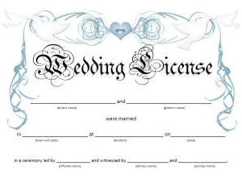 fake marriage certificate