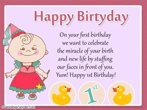 Happy 1st Birthday Card 1st Birthday Wishes Wordings And Messages