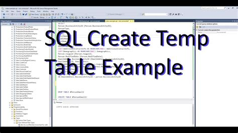 how to create temp table in sql sql create temp table and insert with select adventure