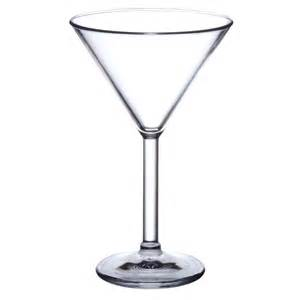 Cocktail Glasses Polycarbonate Elite Premium 7oz Martini Glass X 4pk