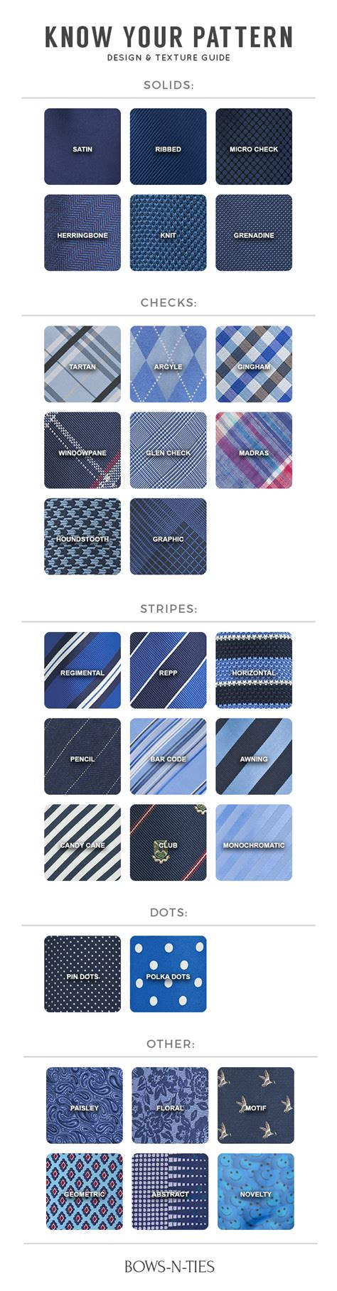 pattern guide a complete guide to tie patterns bows n ties com