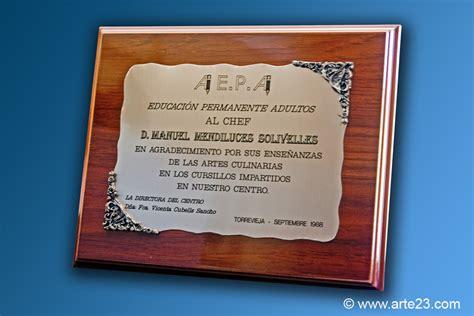 ejemplos de placa de reconocimiento institucional placas conmemorativas para homenajes y reconocimientos