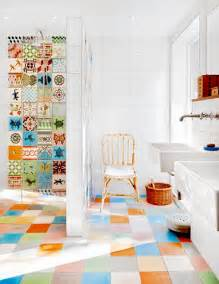 colorful bathrooms 31 multi color tiled bathroom designs digsdigs