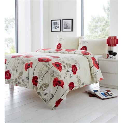 poppy bedding buy chara cotton blend poppy duvet cover more duvet