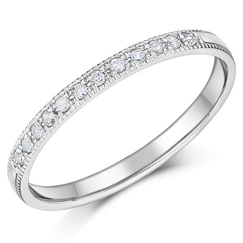 2mm palladium eternity wedding rings palladium