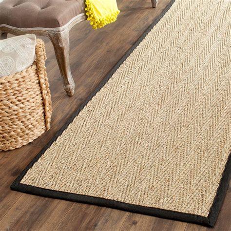 20 foot runner rug safavieh fiber beige black 2 ft 6 in x 20 ft runner rug nf115c 220 the home depot