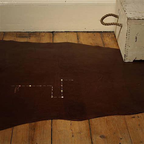 rug procedure chocolate brown leather rug procedure motif by susiemaroon notonthehighstreet